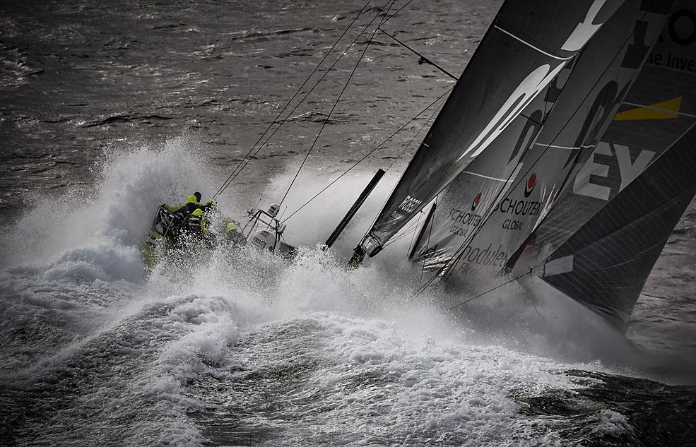 March 30, 2015. Team Brunel rounding Cape Horn.